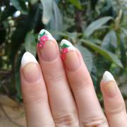 almond nail art design ideas