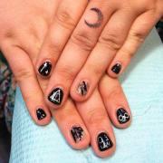 fall acrylic nail art design