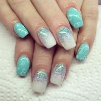 29+ Glitter Acrylic Nail Art Designs, Ideas | Design ...