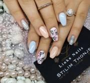 glitter acrylic nail art design