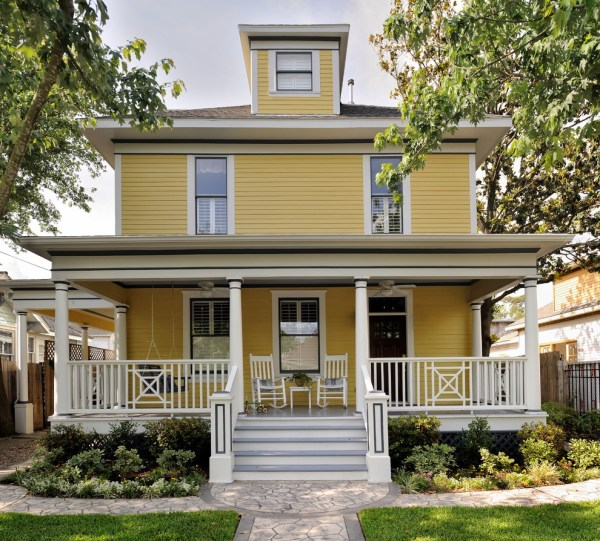 Yellow House Paint Ideas for Front Porch