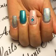 long acrylic nail art design