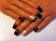 black acrylic nail art design