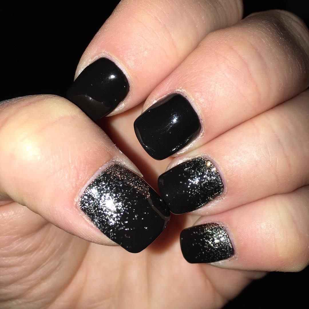 29+ Black Acrylic Nail Art, Designs, Ideas