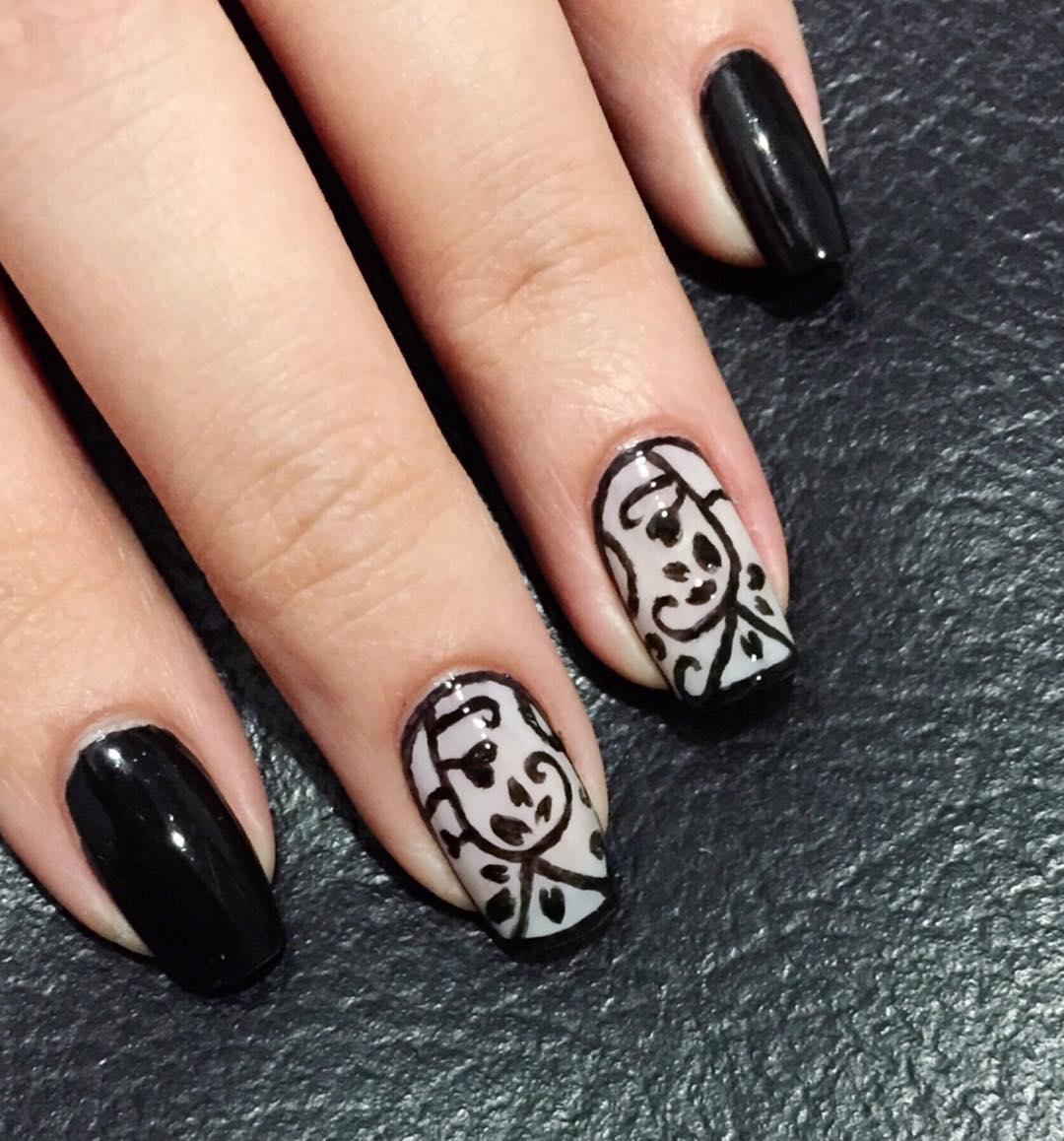 Black Acrylic Nail Art Designs Ideas Design Trends Premium View Images
