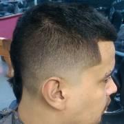 male taper haircut design