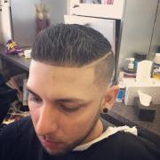 male taper haircut design