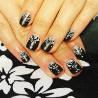 Acrylic Nails Designs Black And White | www.imgkid.com ...