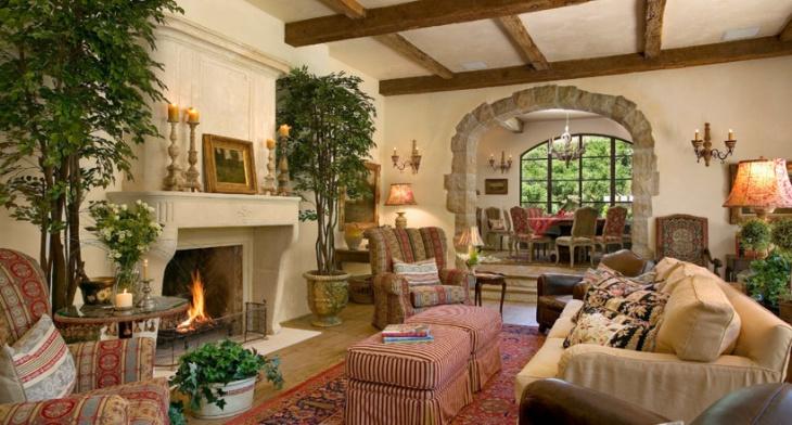 21 Mediterranean Family Room Designs Decorating Ideas