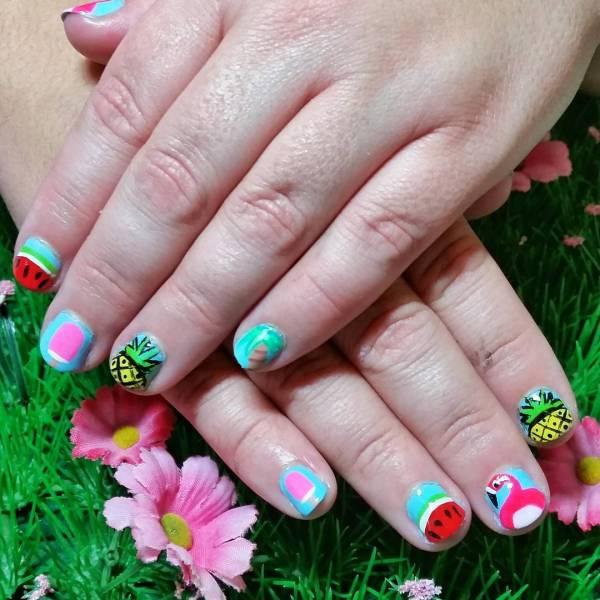 Summer Short Nail Design Ideas Trends - Premium Psd Vector