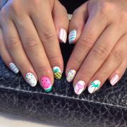 white color summer nail design