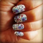 white color summer nail design