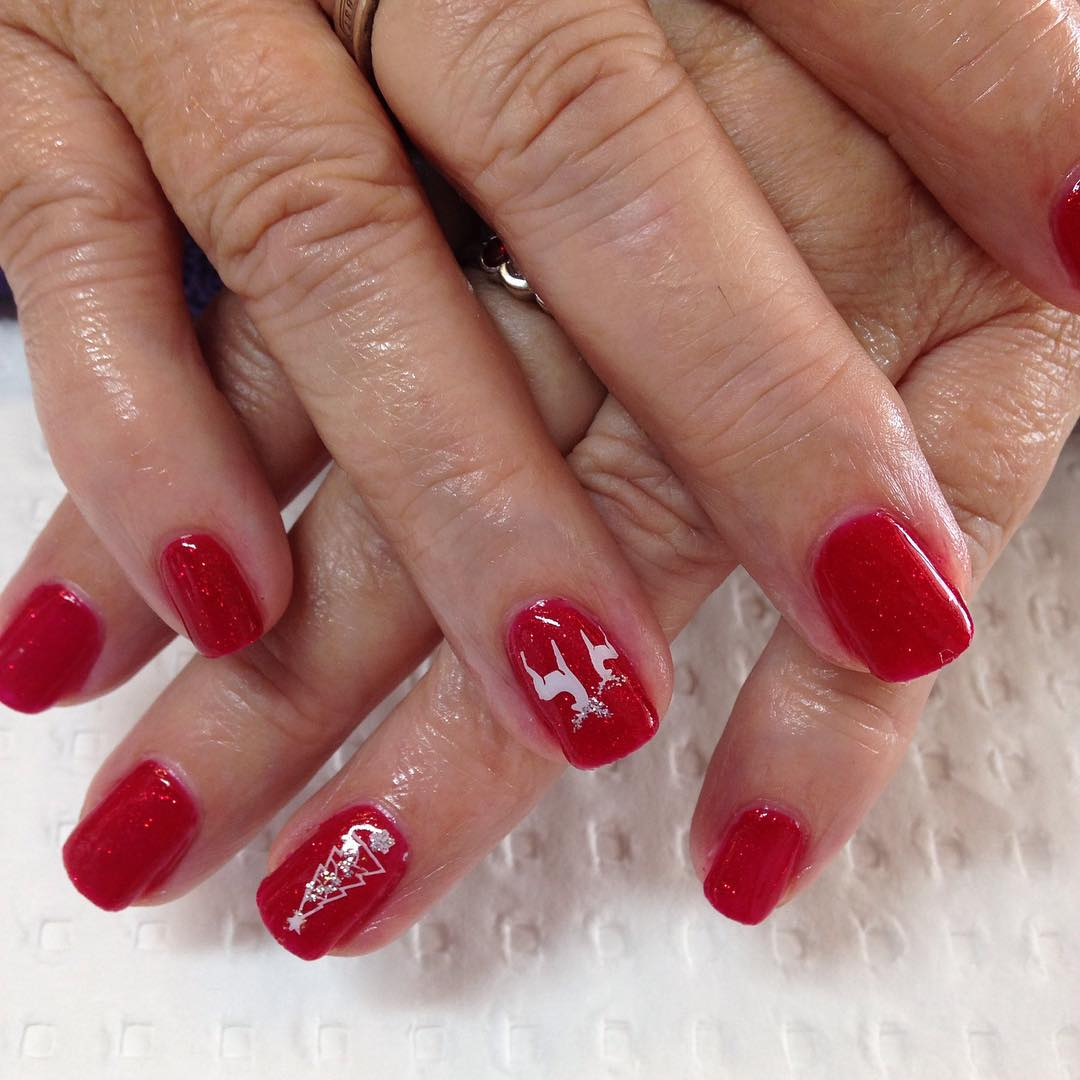 Awesome Red Nail Art Spa