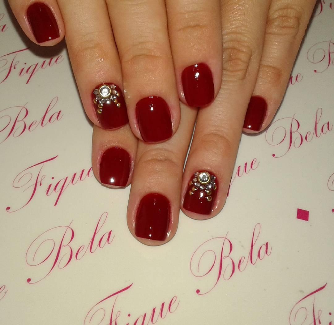 Dark Red Nail Design For Wedding Art Designs Ideas Trends