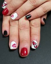 red nail art design ideas