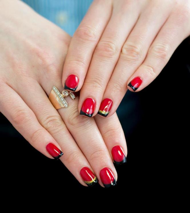 Cute Red And Black Nail Designs