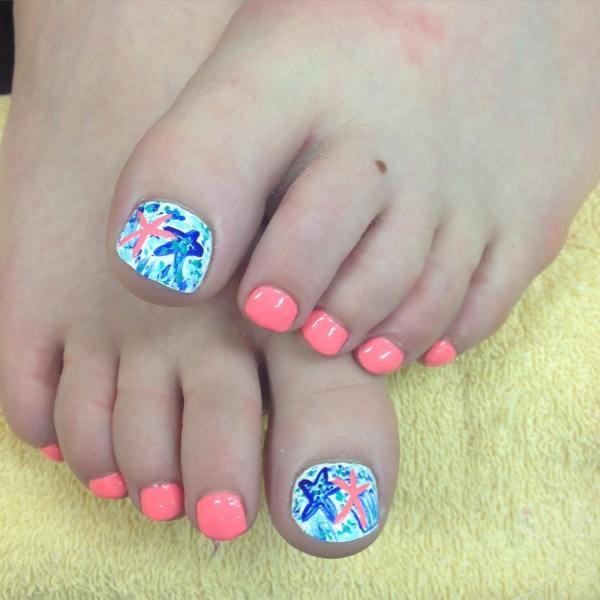 Summer Toe Nail Art Design Ideas Trends - Premium Psd Vector