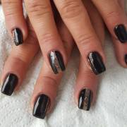 black summer nail design