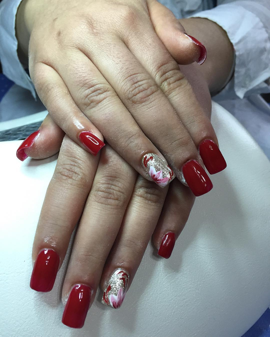 Dark Red Nail Design Idea