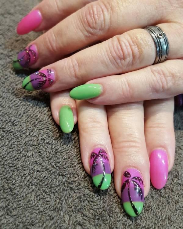 Summer Acrylic Nail Design Ideas Trends - Premium Psd Vector