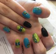 summer acrylic nail design