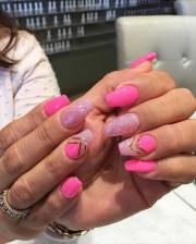 pink summer nail arts ideas
