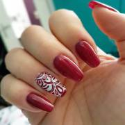 red summer nail art design