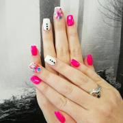 fall acrylic nail design