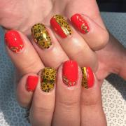 fall acrylic nail design