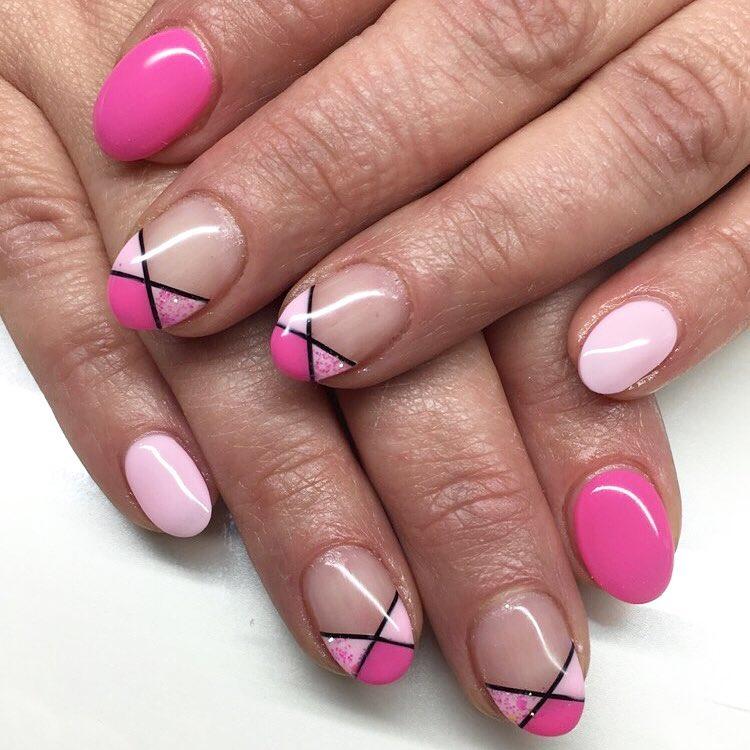 Pink Colored Half Nail Art Design 26 Summer Designs Trends