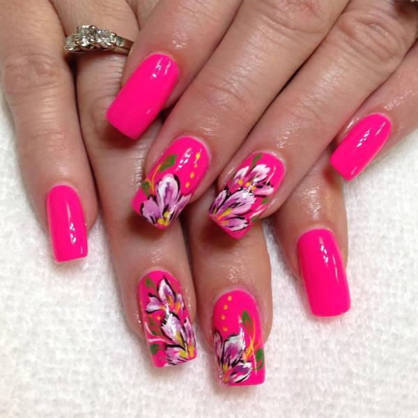 Bright Summer Nail Art Designs