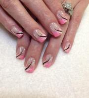 frenchtip nail art design