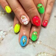 gel summer nail design ideas