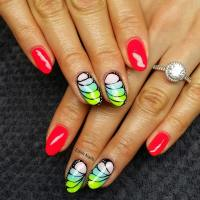 The gallery for --> Red Tip Nail Designs