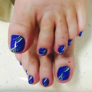 fall toe nail art design