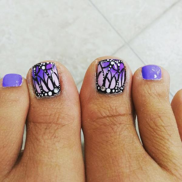 Fall Toe Nail Art Design Ideas