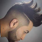 mens hairstyles design lines