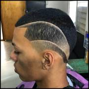 haircut design black men fade