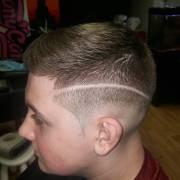 short fade haircut design