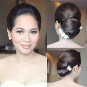 black wedding hairstyle design