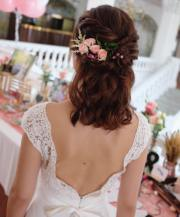 beach wedding hairstyle short