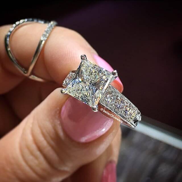 21 Vintage Princess Cut Engagement Ring Designs Trends Models  Design Trends  Premium PSD