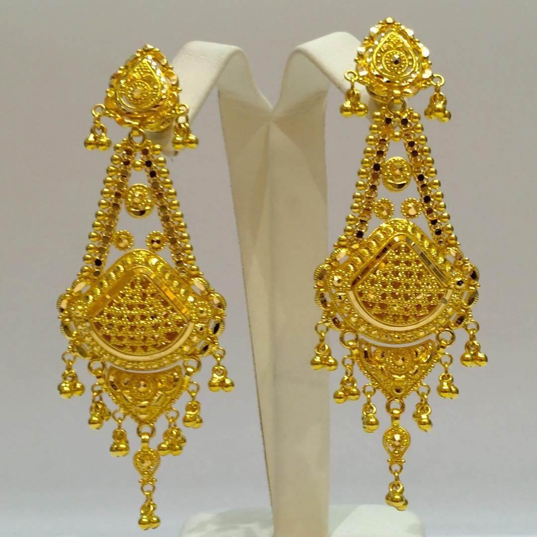 24+ Gold Earrings Designs, Ideas  Design Trends  Premium