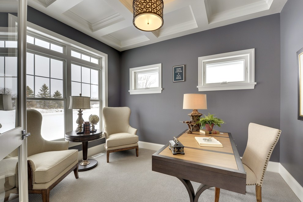21+ Gray Home Office Designs, Decorating Ideas