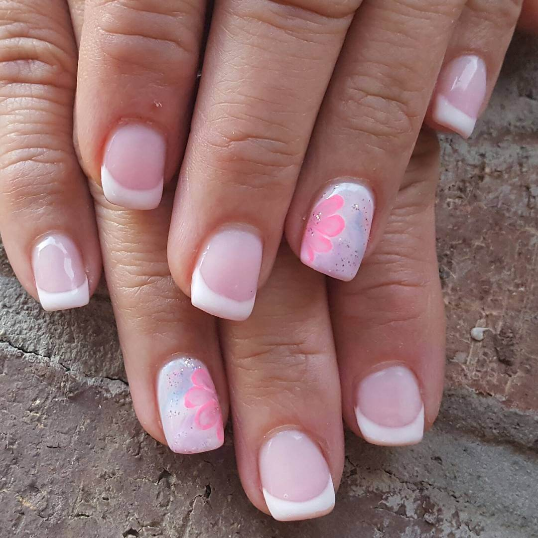 Light Pink French Nail Art 1