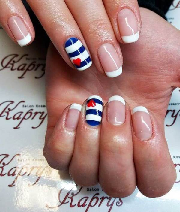 21 French Nail Art Designs Ideas Design Trends