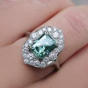 beautiful vintage diamond engagement