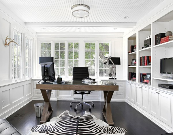 black and white home office 21+ Feminine Home Office Designs, Decorating Ideas | Design Trends - Premium PSD, Vector Downloads