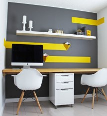 Yellow Home Office Designs Ideas