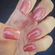 peach nail art design ideas